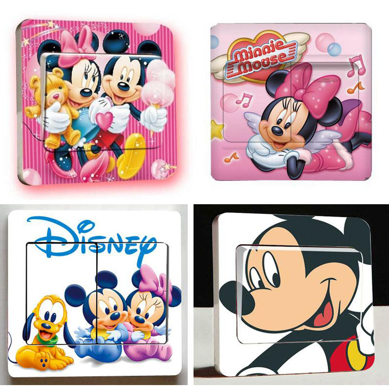 HTB1gqstdv5TBuNjSspmq6yDRVXaJ - 1 pcs Cute Mickey Mouse Donald Duck Light Switch Stickers-Free Shipping