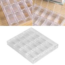20 Grids Transparent Cases Acrylic Art Decorations Storage Box Rhinestone Beads Container Case Jewelry box nail finger Case