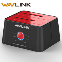 Wavlink Dual HDD Docking Station Usb 3.0 External Hard Drive Station Dual Bay SATA 1/2/3 HDD Enclosure Offline clone For 2*8 TB(China)
