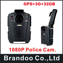 32GB GPS Ambarella A12 IP65 HD 1080P Police Body Worn Camera with 3G function