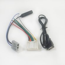 Car CD Power FM Antenna Cable with USB Cable Harness Cable for Nissan Qashqai
