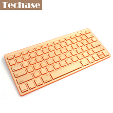 Wireless Keyboard Bluetooth Teclado Sem Fio Inalambrico Toetsenbord Ergonomic Keyboard Mini Wireless Bamboo 72 Key For Window 8