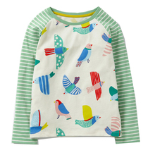 Baby Girls Tops Character Pattern Children T shirts for Girls Clothes 2017 Brand Toddler Tshirt Kids Clothes Girls Costumes(China)