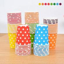 10PCS Colorful Polka Dot Paper Cups Disposable Tableware Wedding Birthday Table Decorations Disposable Cups 3(China)