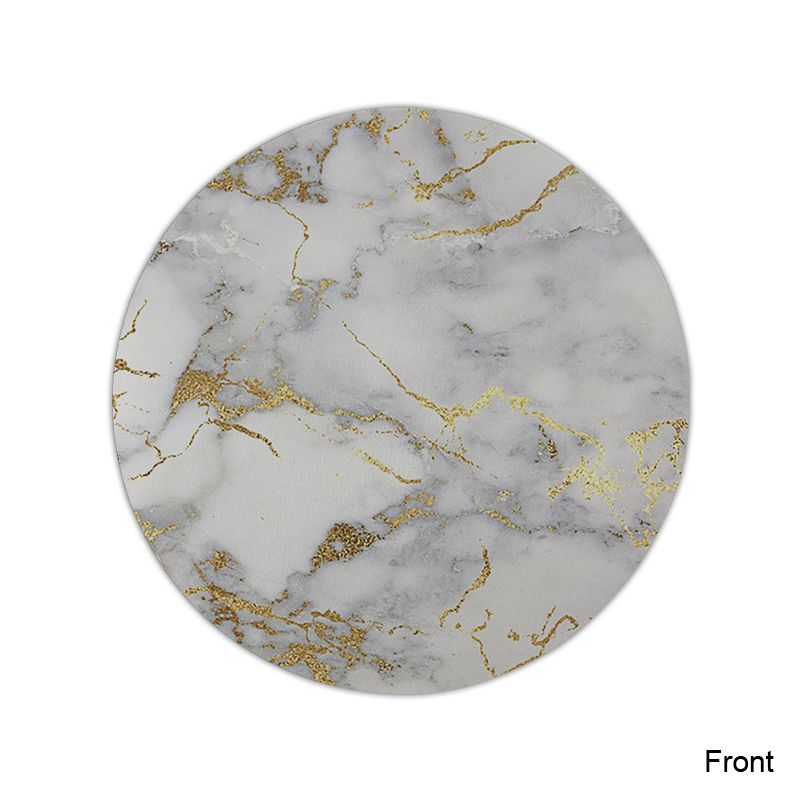 Gold marble Round Mouse Pads Non-Skid Desk Rubber Mouse Pad Game Mouse Pad office MousePad 22X22 CM (3)