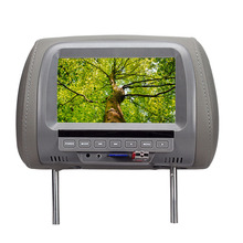 7 Inch TFT LCD Screen Car Video Products General  Car Headrest Monitor  Grey color AV USB SD MP5 speaker SH7038-MP5