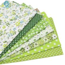 7pcs Green 100% Cotton Quilting Fabric for DIY Sewing Patchwork Kids Bedding Bags Tilda Doll Baby Cloth Textiles Fabric 50*50cm(China)