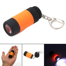 Only 22g 0.3W 1 Mode Mini USB LED Keychain Flashlight Rechargeable Battery Key Chain Keyring Light Lamp Torch 6 Colors