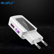Buy RAXFLY Universal Travel Dual USB Charger EU Smart Charging iPhone Samsung Tablet Single Port Max 10W 2.1A Fast charger for $4.49 in AliExpress store