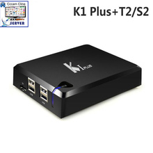 K1 Plus Combo Receiver with 1 Year European Cccam Cline Server Free Android 5.1 DVB-S2+T2 SatelliteTerrestrial Decoder 4K TV Box