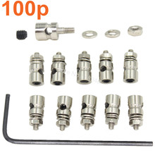 100pcs Pushrods Connectors Linkage Stoppers D2.1mm D1.8mm D1.3mm RC Airplane Replacement Remote Control Plane Parts