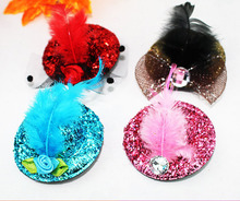 Wholesale girl mini top hats hair clip Nifty  children party hat  Hairpin  30pcs/lot Free Shipping