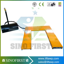 U shape low-type scissor electric lift table use