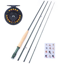 Maximumcatch Fly Fishing Combo 9'5WT Fly Fishing Rod with 5/6WT Graphite Reel +  Line + Flies