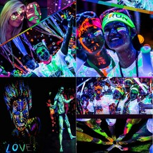 IMAGIC Fluorescence Body Paint Makeup Flash Drawing Pigment Art UV Glow Festival Fancy Face Painting Party Cosplay Fluorescent(China)