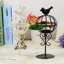 1 Piece Birdcage Design Iron Candlestick Candle Holder for Wedding Romantic Candlelight Dinner Table ornaments Home Decor P25