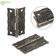 2x Antique Bronze Cabinet Furniture Door Drawer Jewellery Box Hinges 35x28mm  828 Promotion