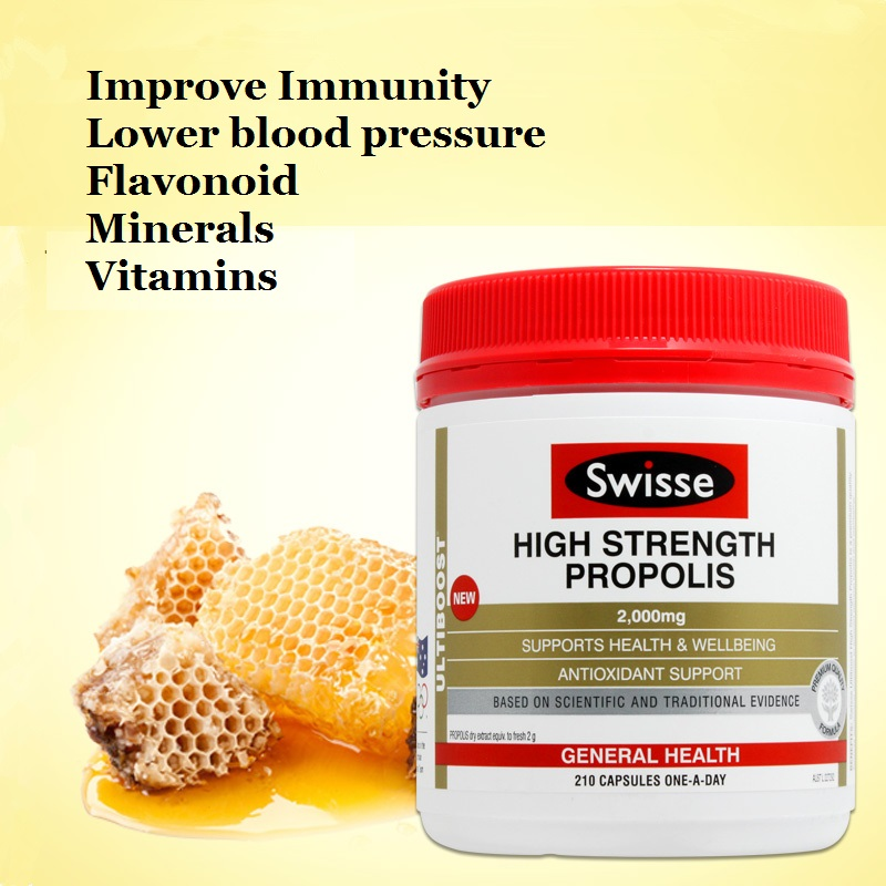 Swisse Propolis Antioxidant Support protect from free radical damage, for good health, improve circulation regulate endocrine<br>