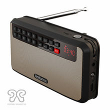 Rolton T60 Portable Stereo Fm Radio Speaker 2.1 Channel Mini Music MP3 Player Support Earphone TF Card USB LED light For Outdoor