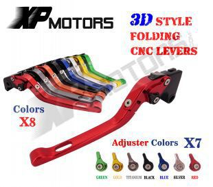 For Triumph 675 Street Triple 2008-2014 CNC 3D Feel Folding Brake Clutch Levers<br>