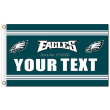 YOUR TEXT Philadelphia Eagles Flag Banner 3ft X 5ft Premium Team Football World Series YOUR TEXT Philadelphia Eagles Banner(China)