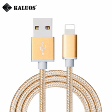 KALUOS 3M Ultra Long Fast Charging USB Data Sync Charger Cable For iPhone 6 6s 5 5s 7 Plus Metal Braided USB Charge Cable 1m 2m
