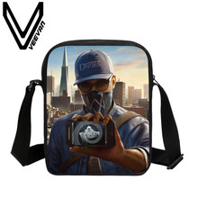 VEEVANV Brand 2017 Assassin's Creed Image 3D Print Messenger Bags School Children Shoulder Bags Women's and Men's Crossbody Bags