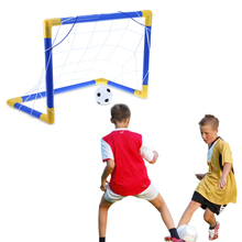 Folding Mini Football Soccer Goal Post Net Set with Pump Kids Sport Toy Funny Indoor Outdoor Games Toys Child Brithday Gift