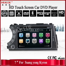 support wifi 3G 1080p video 10EQ band BT IPod radio video car multimedia DVD radio player for ssangyong kyron actyon car dvd GPS(China)