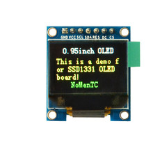 7PIN 0.95 inch full color OLED Display module with 96x64 Resolution SPI Parallel Interface SSD1331 Controller