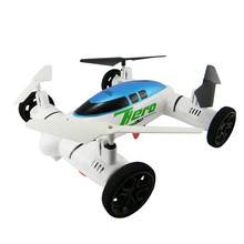 High Quqlity HW7007 2 IN 1 2.4G 6-Axis Plane Land Remote Control Car Quadcopter Drone Helicopter Toys Wholesale Free Shipping(China)