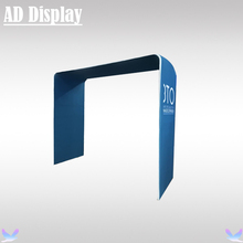 8ft Size Exhibition Booth Tension Fabric Advertising Banner Square Arch Display Stand With Printing,Portable Easy Fabric System(China)