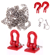 RC Crawler 1:10 Accs Tow Hook & Trailer Chain Kit for Traxxas Hsp Redcat Rc4wd Tamiya Axial scx10 D90 Hpi RC Trucks Car Parts(China)