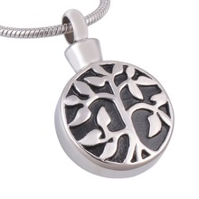 """Tree of Life"" Christian Eternity Immortality Cremation  Necklace Memorial Keepsake Screw Ashes Urn Pendant Jewelry"