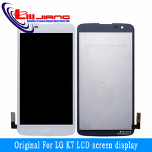 Original quality for LG K7 x210 x210ds LCD display + digital touch glass screen components Free Shipping