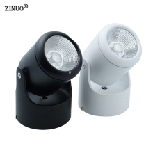 ZINUO 10W 20W COB Led downlights Surface Mounted Ceiling Spot light 180 degree Rotation Ceiling Downlight White AC85-265V