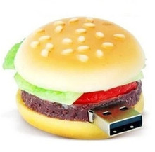 Funny hamburger Shape Genuine 4GB 8GB 16GB 32GB USB Flash Drive Memory Card Stick Thumb/Car/Pendrive Key U Disk/creative Gift