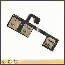 Original for HTC One M7 dual sim 801e 802T 802D 802W sim card reader holder slot tray flex cable(China)
