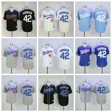 MLB Brooklyn Dodgers 2017 high quality Stitched Jackie Robinson baseball Jerseys for men women youth(China)