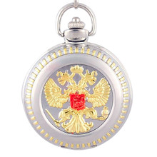 Russian Medal Silver case Men pocket watch  Russia's double headed eagle Pocket Watch  Free shipping