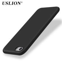USLION Soft Silicon Rubber Candy Colors Phone Case For iPhone 7 7 Plus 6 6s Plus 5 5s SE Shockproof Phone Case Back Cover Bags