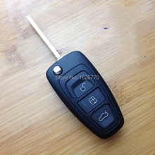 Free shipping ,Replacement flip folding remote key shell cover for ford focus, key case for ford with 3 button