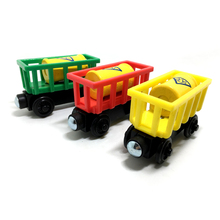 w11 Wooden Train Magnetic Toys Thomas & Friends Multiple  color Cylinder transport car Wooden Train Carriage Children gift