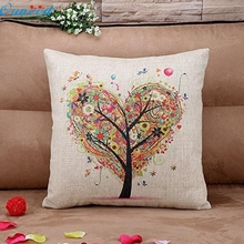 Homey Design Linen Square Throw Flax Pillow Case Decorative Cushion Pillow Cover Decorative Pillowcase Couch Bed Home  JA12