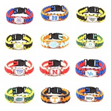 NCAA Washington Stat Outdoor Camping Braided Rescue Paracord Bracelet Parachute Cord Emergency Rope Survival Bracelets For Women