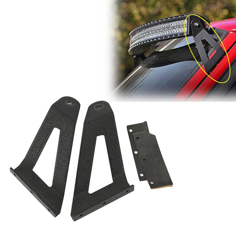 2x Car Offroad Upper Windshield Mounts 50 Curved LED Light Bar Work Light Roof Mounting Brackets For Jeep Cherokee XJ 1984~2001<br><br>Aliexpress