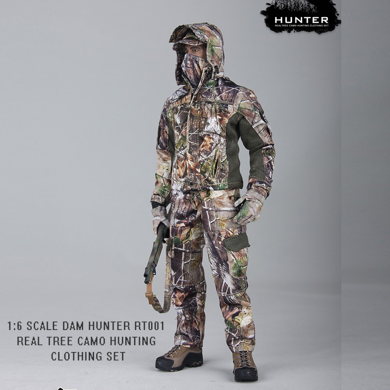 1/6 DAM TOYS Realtree Camo Huting Clothing Set Suit RT001 Regulated Fit 12 Inch Soldier Action Figure No Body with Head/Boots<br>