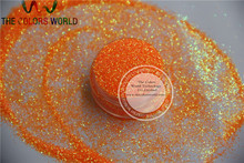 NO.54 0.4MM size Shinning Neon Rainbown Orange  Color  Glitter Powder 50g/bag free shipping