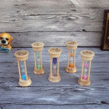 Good Quality 3 Mins Wooden Colors Sand Clock Sandglass Hourglass Timer Decor Gift Burlywood Frame