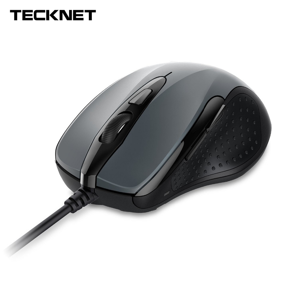 TeckNet Mouse Pro S2 High Performance USB Wired Mouse 6 Buttons 2000DPI Gamer Computer Mouse Ergonomic Mice with Cable Desktop(China)